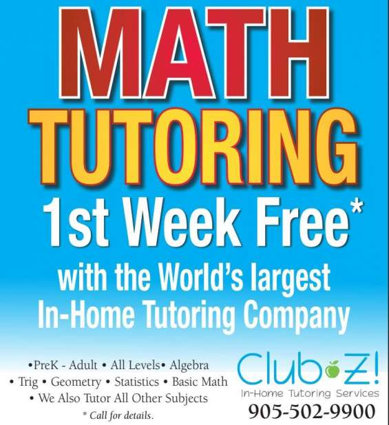 Club z! provides math help with private, in home math tutors in your ...