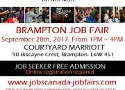 FREE: Brampton Job Fair – Thursday, September 28th, 2017