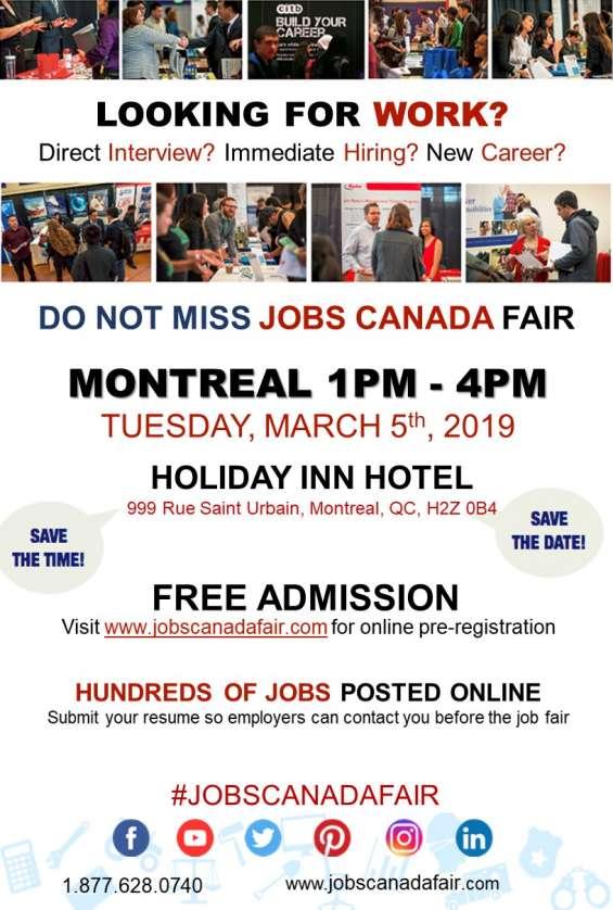 Montreal job fair - march 5th, 2019