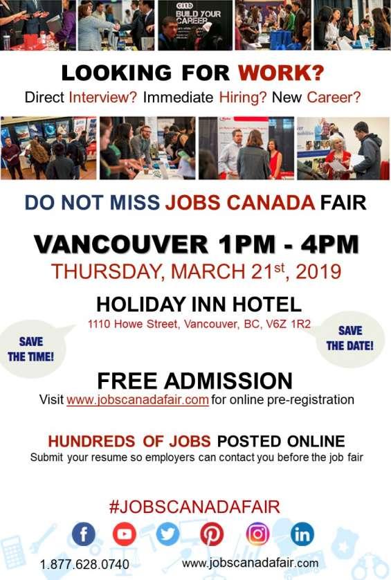 Vancouver job fair - march 21st, 2019